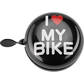 URBAN PROOF Ding Dong Fietsbel 8cm, i love my bike black